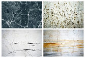 Collection of four natural scratched textures wall backgrounds to design — Stock Photo