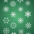Christmas snowflake collection — Stock Vector