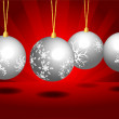 Royalty-Free Stock Vector Image: Christmas ball background