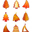 Stock Vector: Christmas tree creative set vector