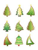 Christmas tree creative set vector — Stock Vector