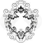 Vintage ornament for frame.Banner. — Stock Vector