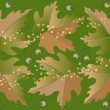 The  leaves are falling.Background.Wallpaper - Stock Vector