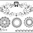 Beautiful frame and corner of the flourishes.Graphic.Banner. — Stock Vector