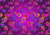 Background paisley in browns and violet colors.Wallpaper. — Stock Vector