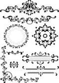 Angolo decorativo, confine, frame.graphic arti. — Vettoriale Stock