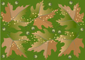 The leaves are falling.Background.Wallpaper — Stock Vector