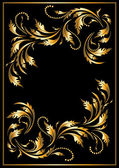 Gold frame in the Gothic style. Frame. — Stock Vector