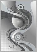Abstrakt grå banner med krokiga lines.banner. — Stockvektor
