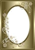 Abstract golden floralen rahmen. postkarte. — Stockvektor
