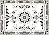 Quadro decorativo das artes orientais pattern.graphic — Vetorial Stock