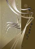 аннотация коричневый оттенок фона. баннер. — Cтоковый вектор