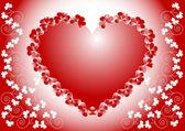 Declaration of love.Valentine day.Postcard, — Stock Vector