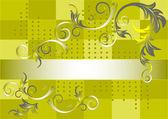 Vzorek na zeleném pozadí. banner.background. — Stock vektor