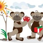 Bear is a declaration of love. Illustration. — Stock Vector #7726368
