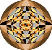 Mosaik-Muster für den Hintergrund und die Textur. Abbildung. — Stockvektor