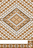 Teppich, stück ornament.pattern.illustration. — Stockvektor