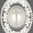 Stock Vector: Abstract medallion Christ.Banner.