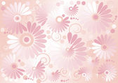 Pink background with flowers.Background. Wallpaper. — Stock Vector