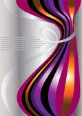 Curvas brillantes de rayas curvas en una luz background.banner. — Vector de stock
