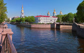Sain Petersburg. The crossing of Griboyedov canal and Krukov cana — Stock Photo