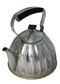 Old vintage teapot on a white background — Stock Photo