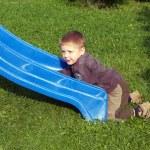 Boy on slipway — Stock Photo #7604885