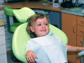 Little girl in dental examination — Stock Photo