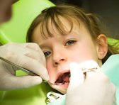 Dental prevention examination — Stock Photo