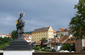 View on historical part of Cesky Krumlov — Stock Photo
