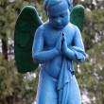 Blue angel — Stock Photo