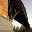Stock Photo: Harbour bridge pillar