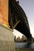 Harbour bridge pillar — Stock Photo