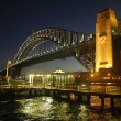 Harbour Bridge at night — Stock Photo