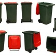 Red garbage bins — Stock Photo #7891261