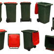 Stock Photo: Red garbage bins