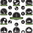 Renewable Energy Sources - Icon Pack — Stock Vector