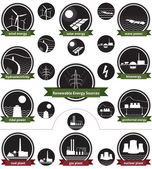 Renewable Energy Sources - Icon Pack — Stockvektor
