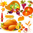 Stock Vector: Thanksgiving set