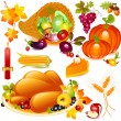 Thanksgiving set — Stock Vector #7587493