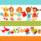 Childrens — Vector de stock