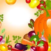 Thanksgiving. Vegetables background. — Stock Vector