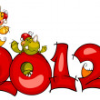 Royalty-Free Stock Vector Image: New Year\'s border. dragon 2012