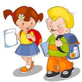 Boy and girl — Stock Vector