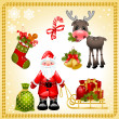 Christmas set. SantClaus — Stock Vector #7735762