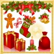 Christmas set. gifts — Stock Vector
