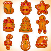 Christmas cookie.set — Stock Vector