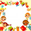 Children's background — Vettoriale Stock