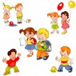 Set children — Stock Vector #7821232