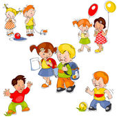 Set children — Stock Vector